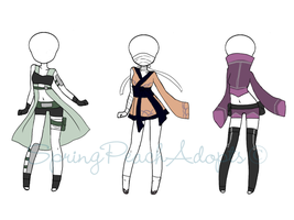 Naruto Outfit Adopts 3 (CLOSED) by SpringPeachAdopts