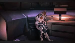 Overthinking | Alone in the Dark | Mordin Solus by Reiko-Himezono-Lirka