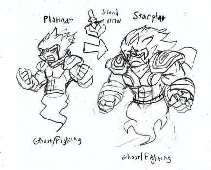 Fakemon Concept: Star Platinum by Brian12