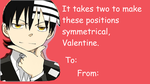 Death The Kid Valentine meme by CrypticCharmander
