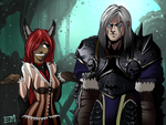 Arthas and Queenie by EdMoffatt