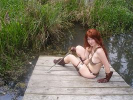 Red Sonja Relaxed by Swamp II by aichan25