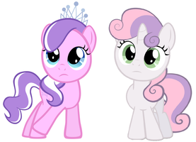 Diamond Tiara and Sweetie Belle are Sisters by TheMasterofDespair