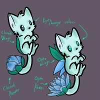 Custom Lotus Kitty for ButterflyPuppetWolf by Prince-Ego