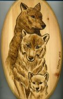 Wolf Family by amberchrome