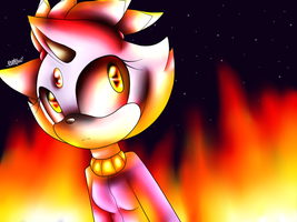 A Blazing Cat by BrownandPurpleBlur1