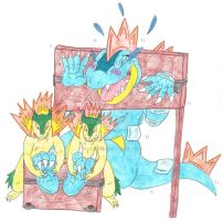 Brohan-Aggron Art Trade Feraligatr Stock Tickles by KnightRayjack