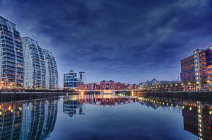 Salford Quays Bridge HDR by rayxearl