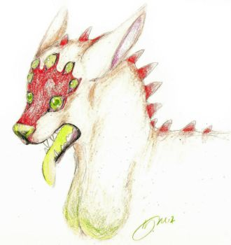 Green tounge by zombiewolf6