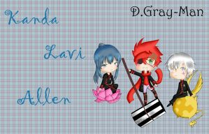 Chibi Kanda, Lavi and Allen by naahcastilho