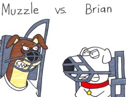 Muzzle vs. Brian by BrianGriffinFan