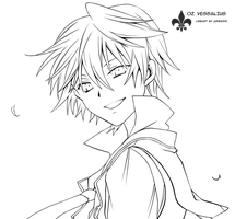 lineart: Oz Vessalius by arukeshi