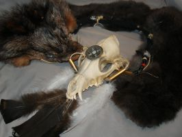 Coyote Skull Necklace by Cheddarness8