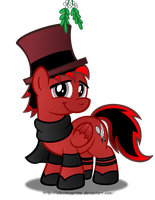 Commission:  FlameAmigo619 under mistletoe by AleximusPrime