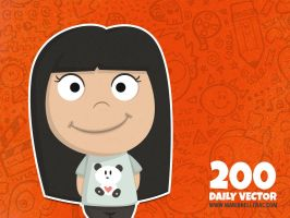 Daily Vector - 200 (Shy girl) by KellerAC