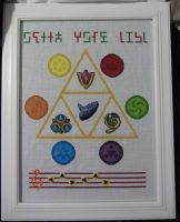 Legend of Zelda OoT cross stitch project by Lileya-Celestie