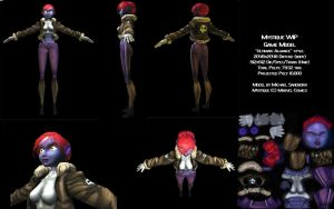 Mystique 3D Wip Game Model by msandborn