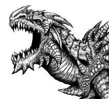 Cole as a Mountain Dragon by ArtDrudge