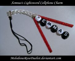 Xemnas Lightsword Cell Charm by MelodiousRoseDuelist