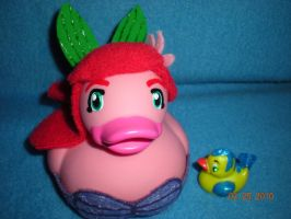 Close up of Ariel and Flounder by Oriana-X-Myst