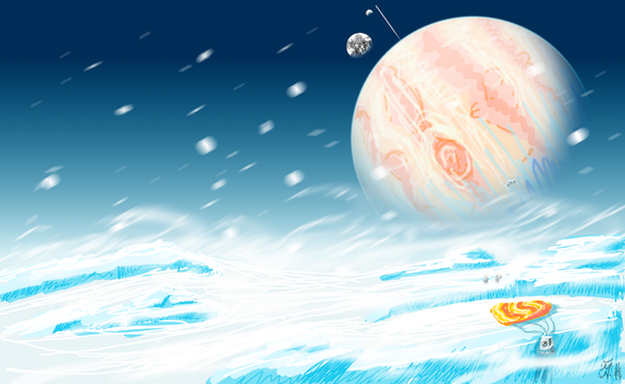 Europa Arrival by Sentient-Snow