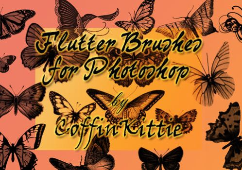 Flutter Brushes For Photoshop by daydreamkitten