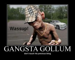 gangsta gollum by Lovett91