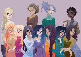 [Commission] Wheel of Time Ladies by TheQueenSerena