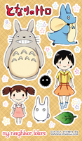 Totoro Stickers by m0chistar