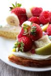 Honey, Cream, Fruit And Chocolate Cake by claremanson