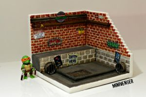 WIP: Sewer Diorama for 1 inch turtles by minivenger
