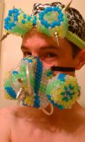 Newest Kandi Gas mask and goggle set by halodiablo