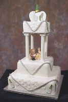 Teddy Wedding Cake by ginas-cakes