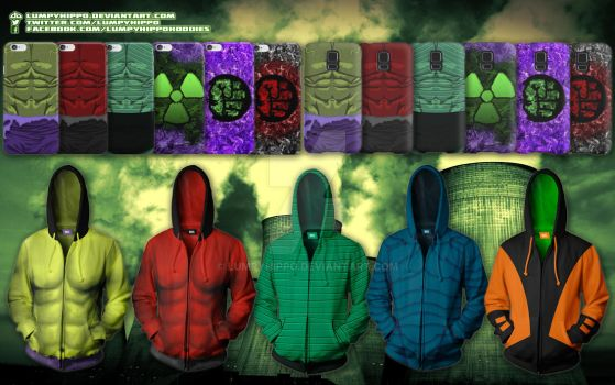 Hulk Hoodies by lumpyhippo