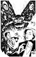X Files vs The Mothman by stokesbook