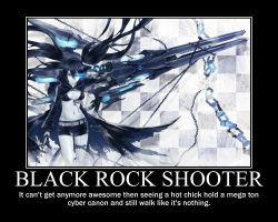 Black Rock Shooter motivation poster by Troxist
