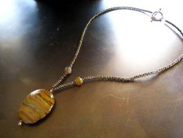 Tiger's Eye Necklace FOR SALE by ThreeRingCinema