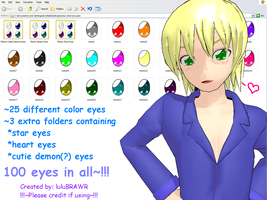 MMD Eye Pack DL :Momo Eyes: by luluBRAWR