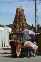 temple and fruits - India street live by LoveYourPath