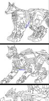 Zoids OCs linearts by MidnightLiger0