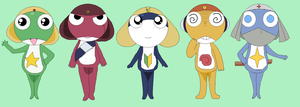 Keroro Gunso And Friends by ObstinateAnarchist