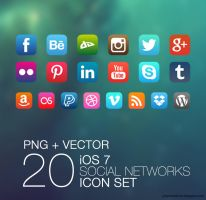 iOS 7 Social Icons Pack by mikymeg