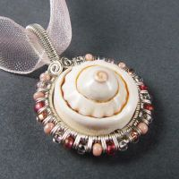 Sea Shell, Glass and Silver by Gailavira