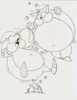 Sonic and Tails bubble bloat by Robot001