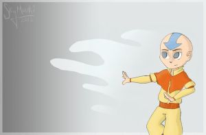 The Gaang: Aang by Asterismo