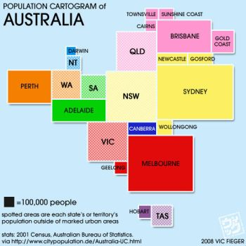 Where Australians live by vcfgr