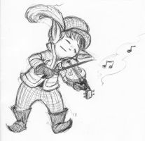Lalafell Musician by Inaaca