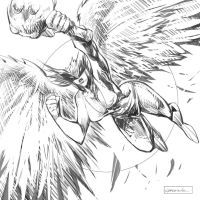 Hawkgirl by johnnymorbius