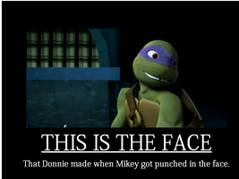 This is the face (TMNT motivational poster) by SirMadam