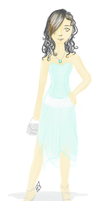 Jade in her prom dress by Lmih